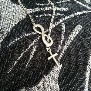 Jewelry - Sale 🎀 Cross infinity necklace